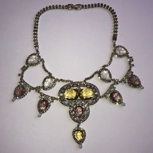 Banana Republic Crystal Rhinestone Bib Necklace